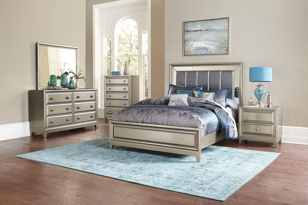 homelegance 18391 hedy graphite grey silver queen size
