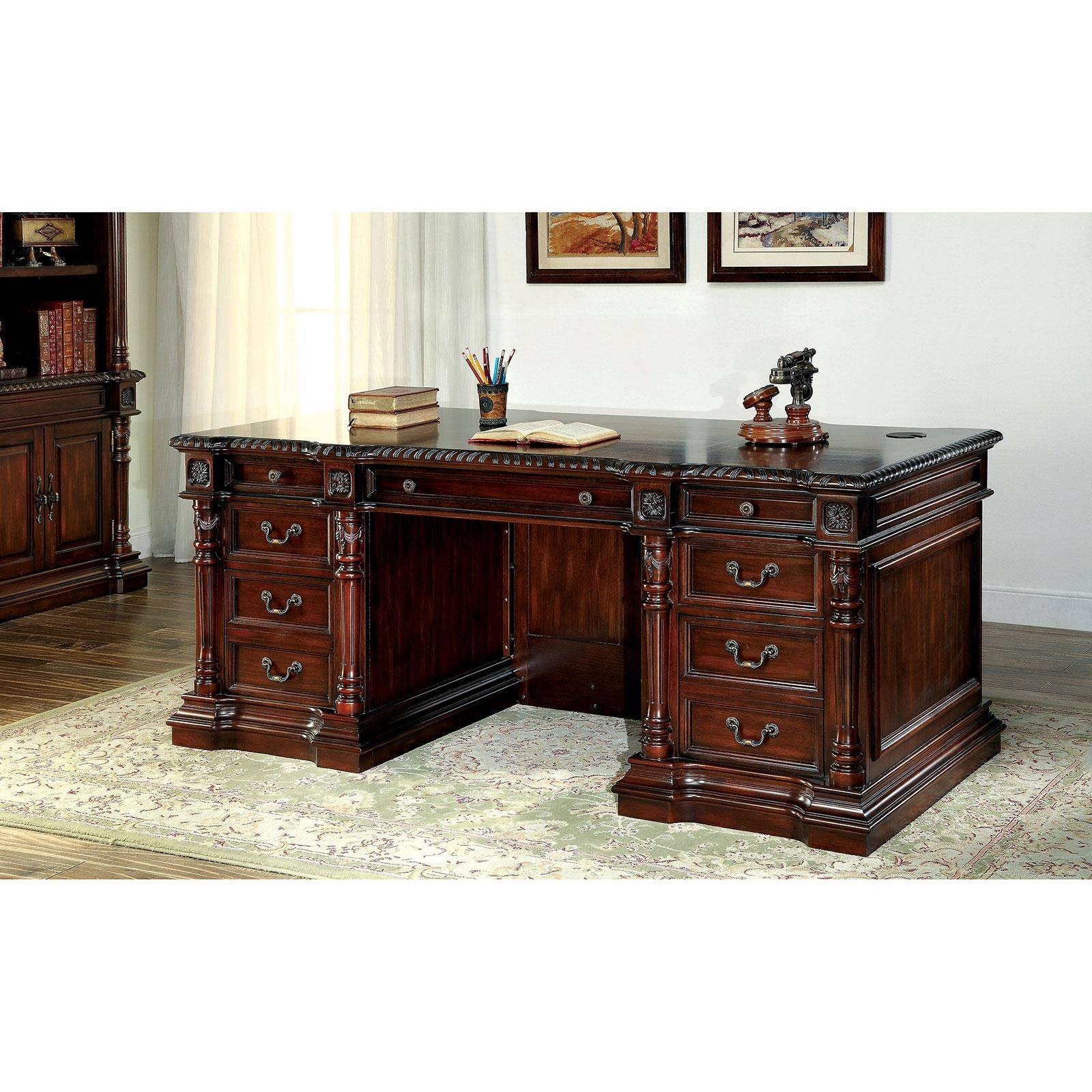 Traditional Wood Desk in Brown Roosevelt by Furniture of ...