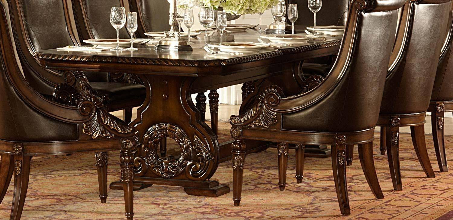 Cherry Wood Pedestal Dining Table