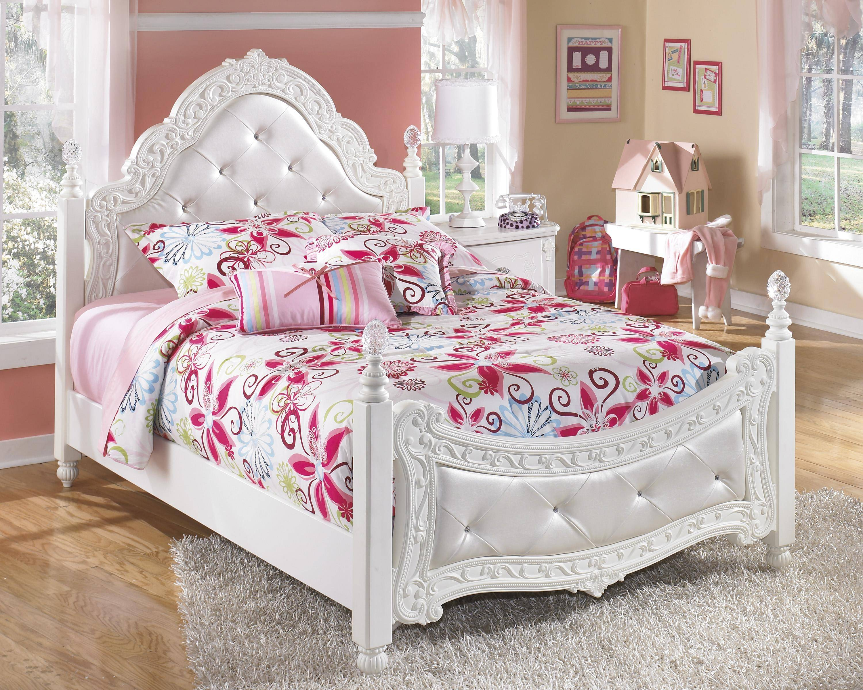 ashley exquisite b188y full size poster bedroom set 3pcs