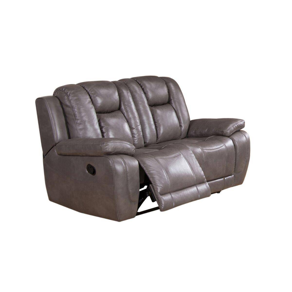 Awe Inspiring Top Grain Leather Smoke Grey Reclining Loveseat Amax Leather Gmtry Best Dining Table And Chair Ideas Images Gmtryco