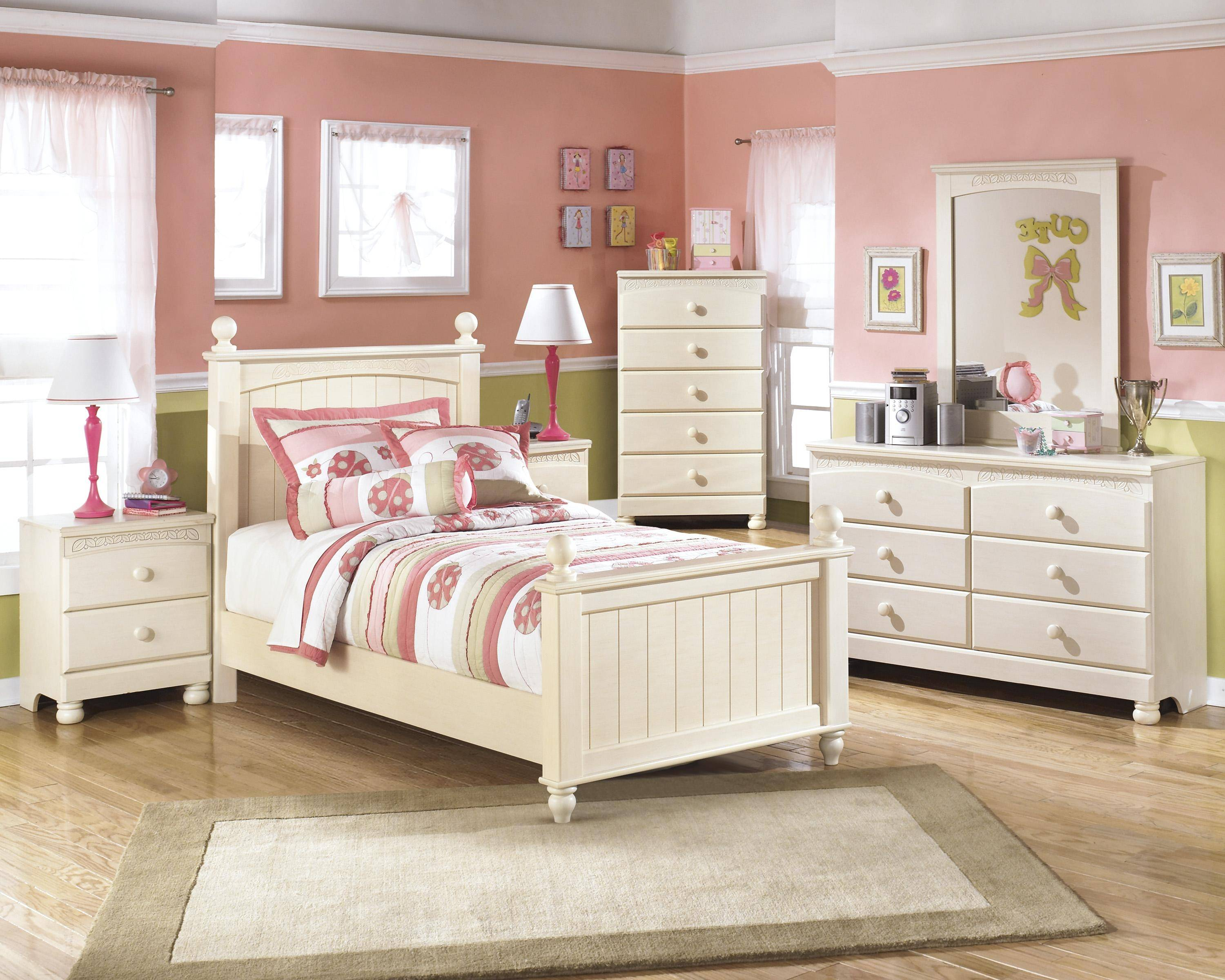 Ashley Cottage Retreat B213 Twin Size Poster Bedroom Set