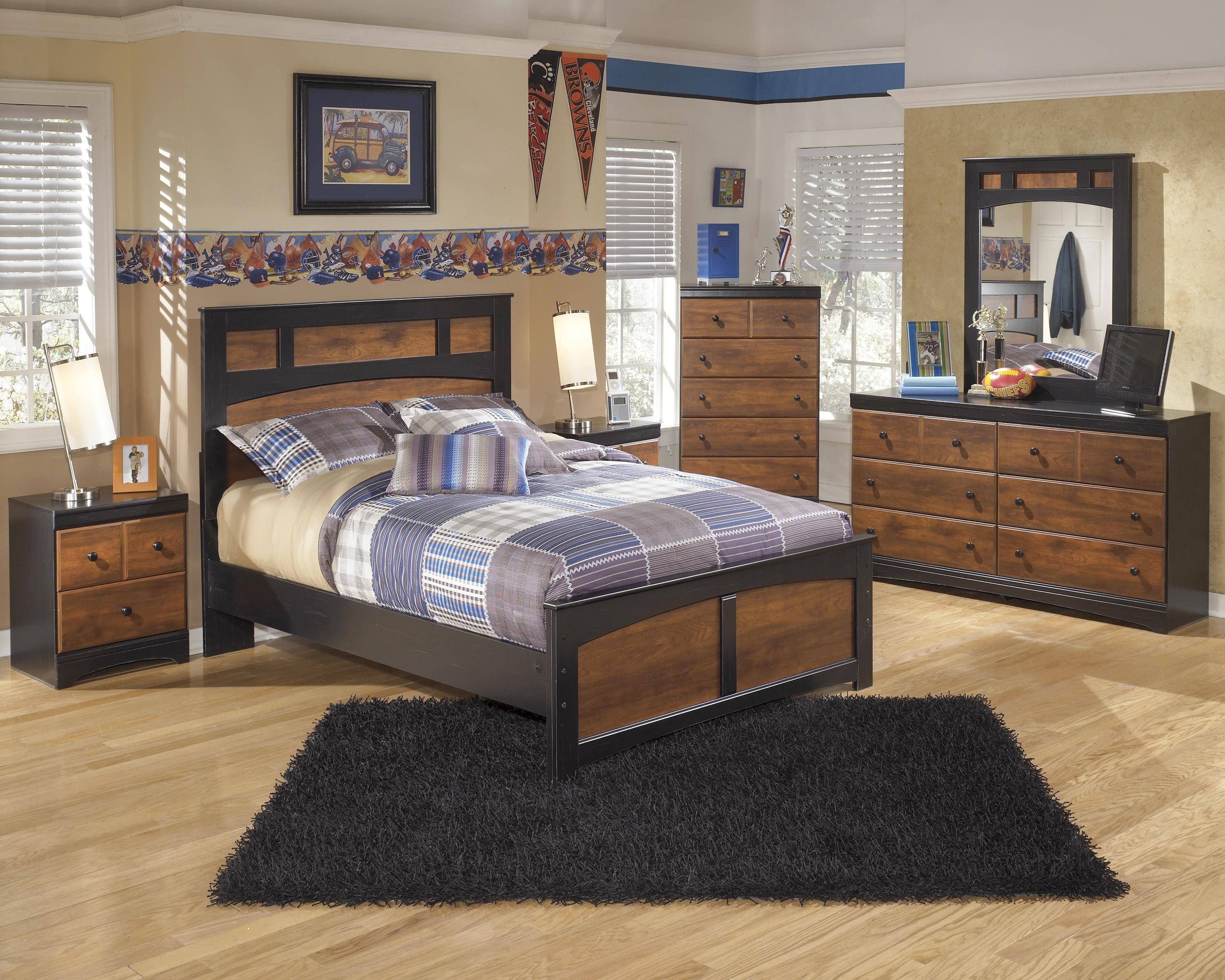 ashley aimwell b136 full size panel bedroom set 6pcs in