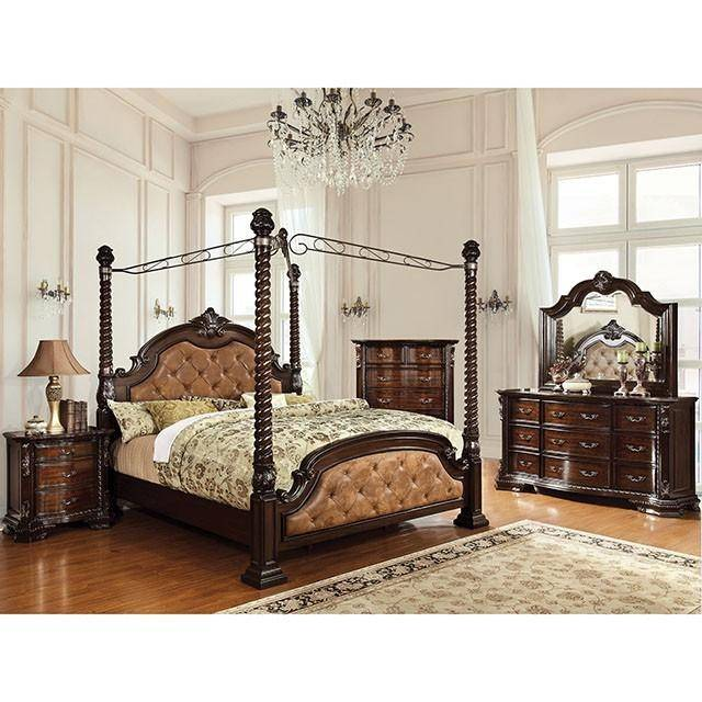 traditional upholstered cal king canopy bed monte vista ii