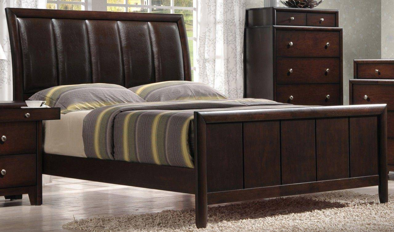 Crown Mark B6875 Rivoli Modern Dark Brown Finish Solid Wood ...