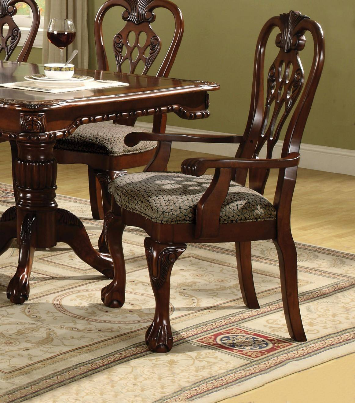 Formal Dining Room Sets For 6: Crown Mark 7 Pc Brunswick Formal Dining Room Set, Includes