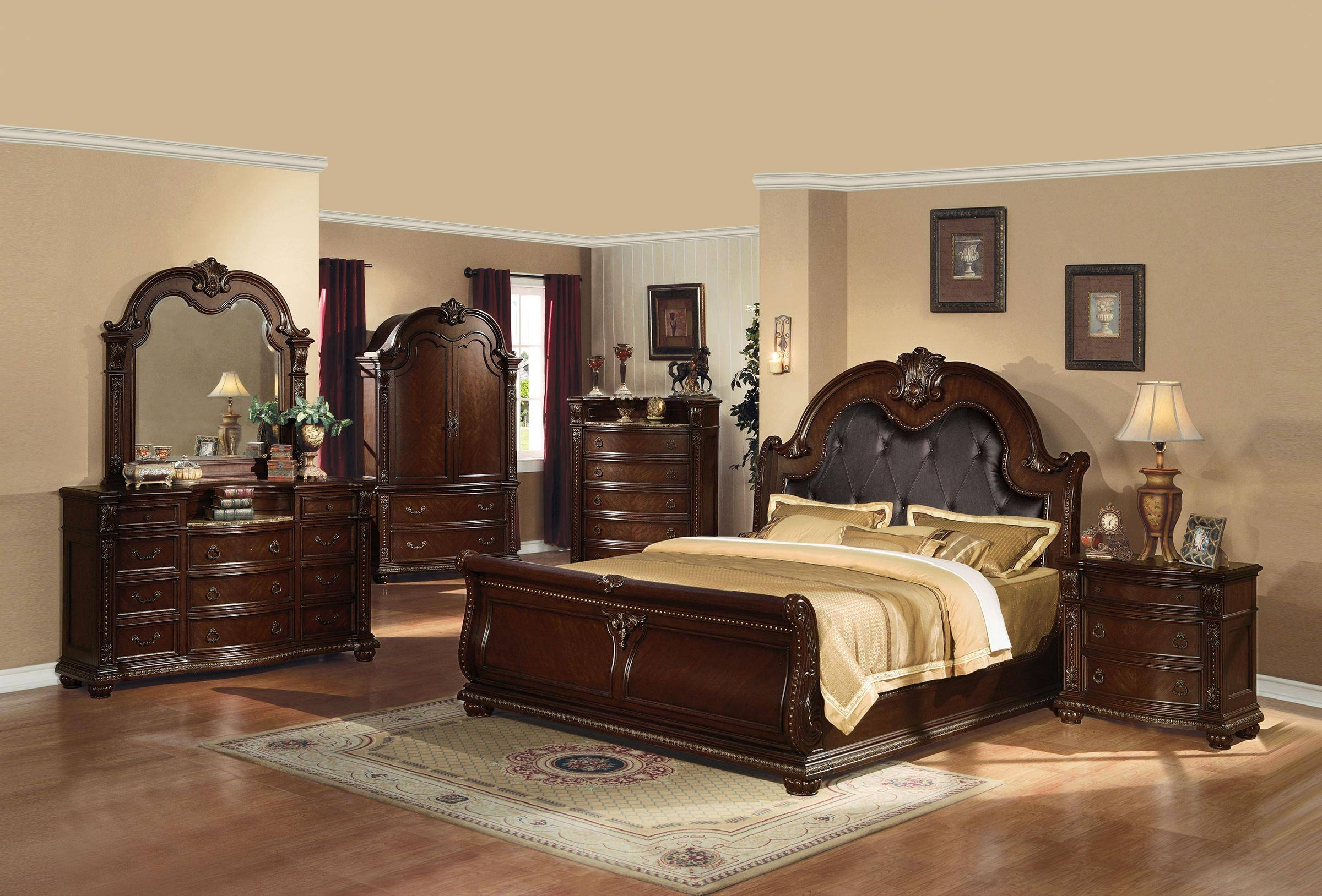 Find Many Great New Used Options And Get The Best Deals For Sheridan Collection King Size Bed Traditional Cherry Wood Bedroom Furniture At