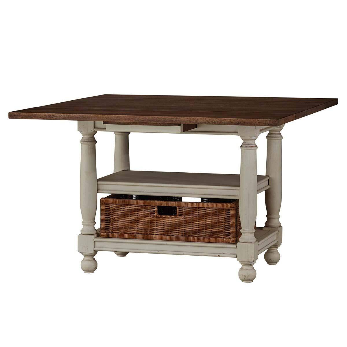Bramble 25799 Vintage Drop Leaf Kitchen Table Solid Wood ...
