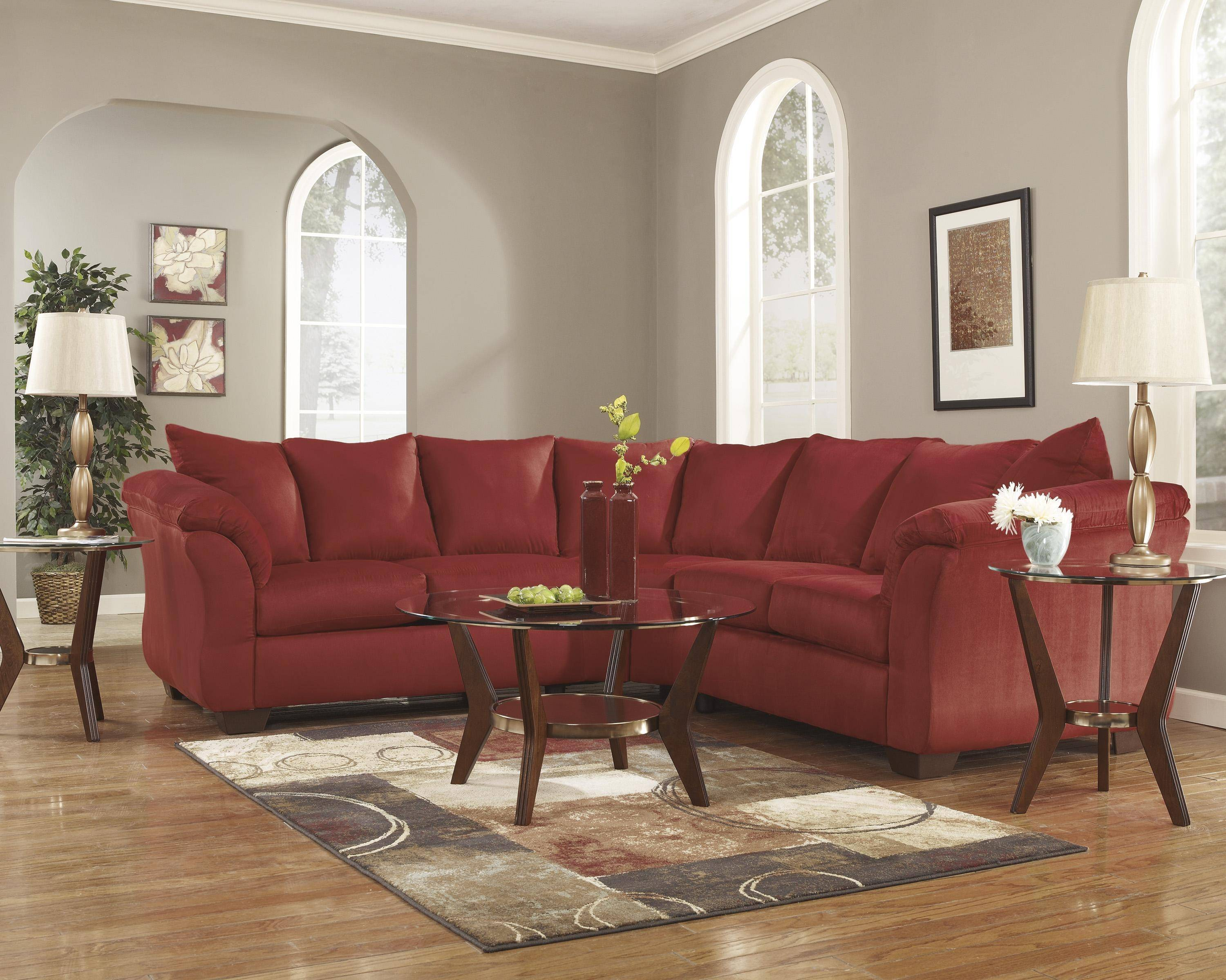 Cool Ashley Darcy 2 Piece Sectional In Salsa 75001 55 56 Kit Alphanode Cool Chair Designs And Ideas Alphanodeonline