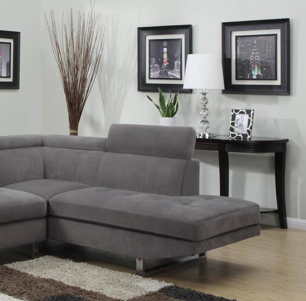 Roomstore Furniture Store: Grey Fabric Sectional W/Removable Headrests MYCO Furniture