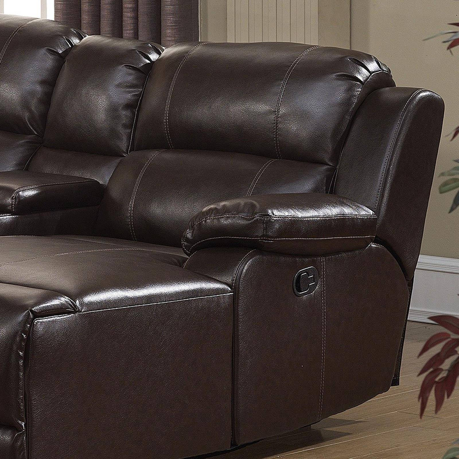 Fine Ac Pacific Colton Dark Brown Bonded Leather Manual Recliner Gamerscity Chair Design For Home Gamerscityorg