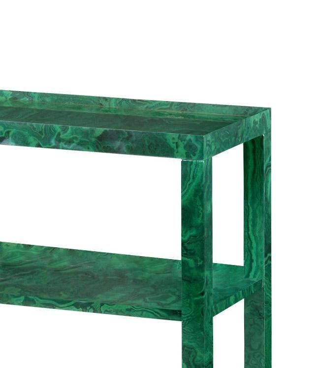 Modern High Gloss Lacquered Malachite