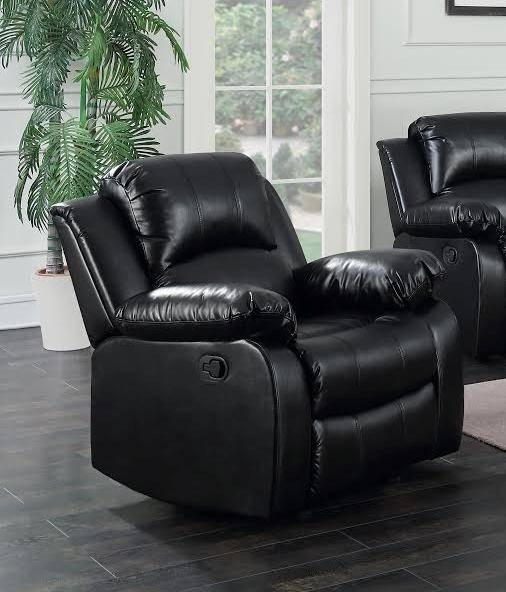 Happy Homes Astros Modern Brown Blended Leather Recliner Sofa Set ...