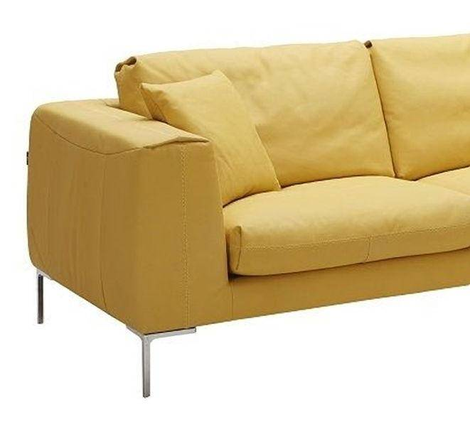 Phenomenal Jm Soleil Contemporary Style Yellow Premium Nubuck Leather Sectional Sofa Ocoug Best Dining Table And Chair Ideas Images Ocougorg