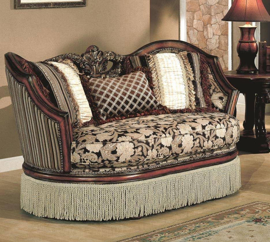 Myco Furniture Sa9000 Santiago Classic Brown Floral Fabric