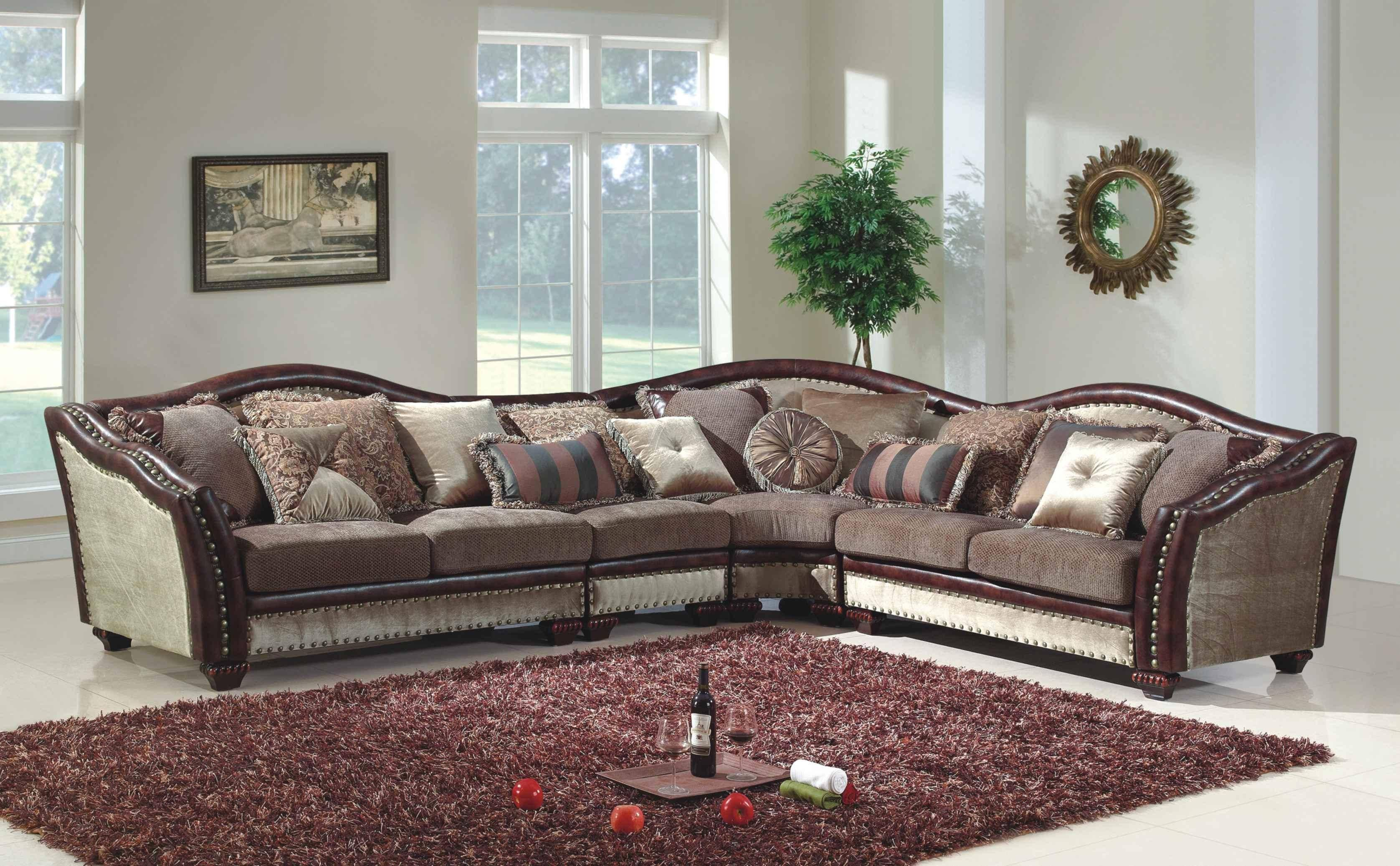 Mcferran sf2780 traditional beige brown chenille fabric living room sectional sofa reviews sf2780 sectional