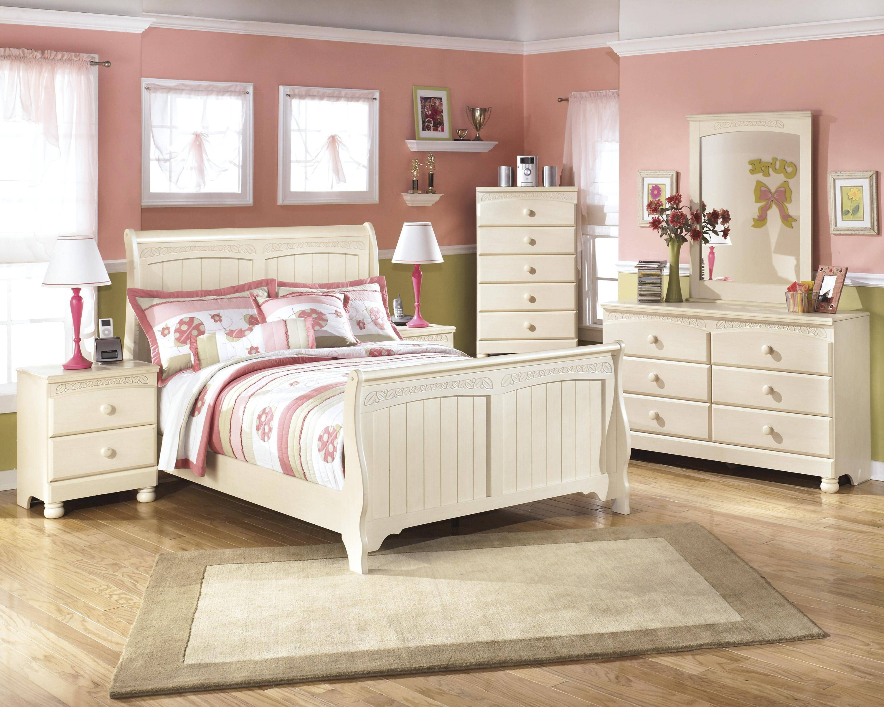 ashley cottage retreat b213 full size sleigh bedroom set