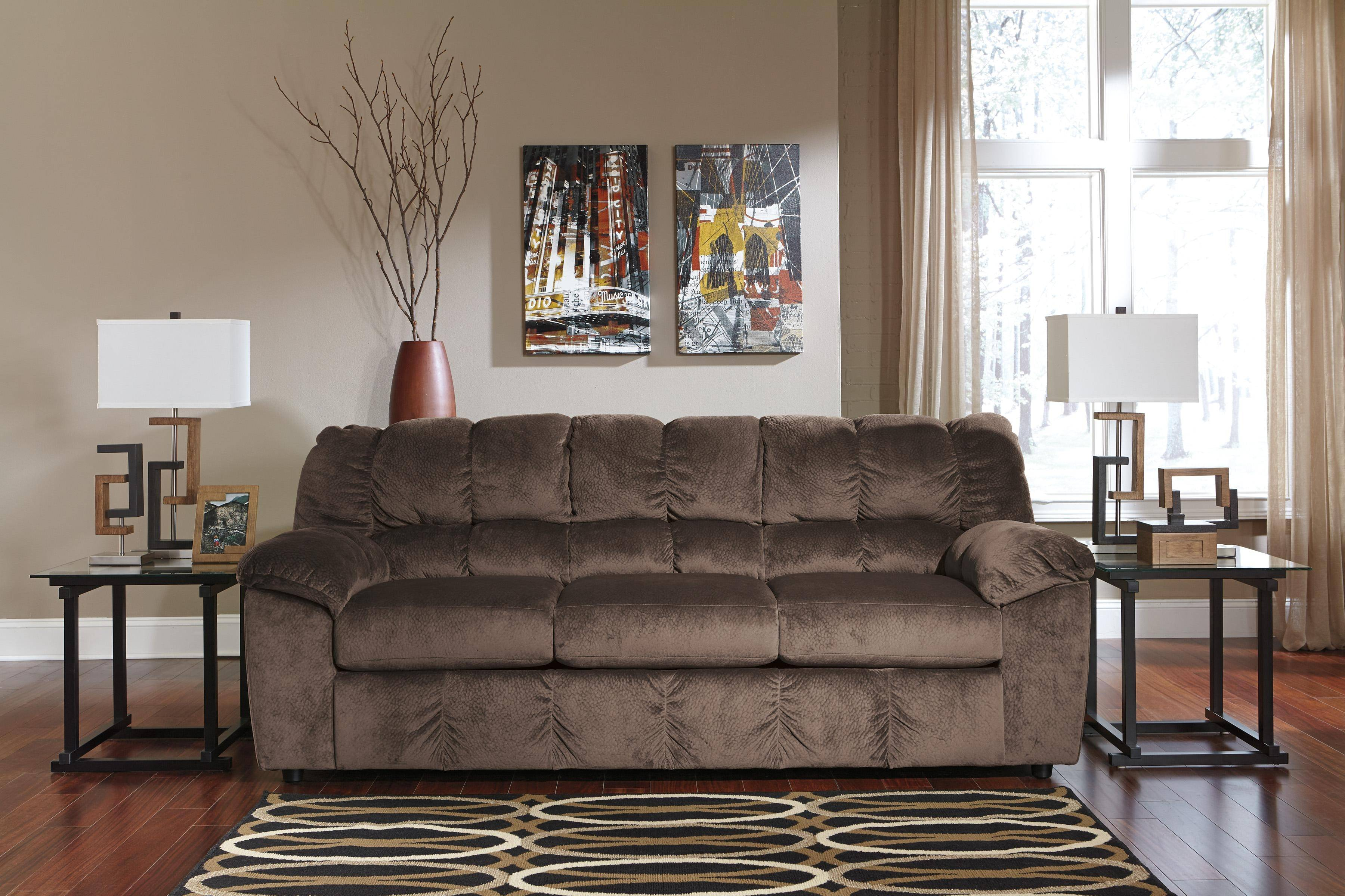 Ashley Julson 3 Piece Living Room Set in Cafe (26604-38-35 ...