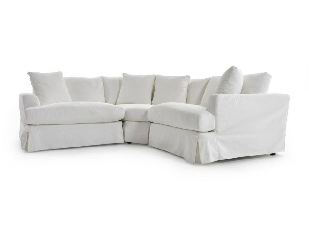 Picture of: Soflex Hugo White Perl Stain Resistant Fabric Sectional Sofa Slipcover Hugo Sectional Wh Slipcover