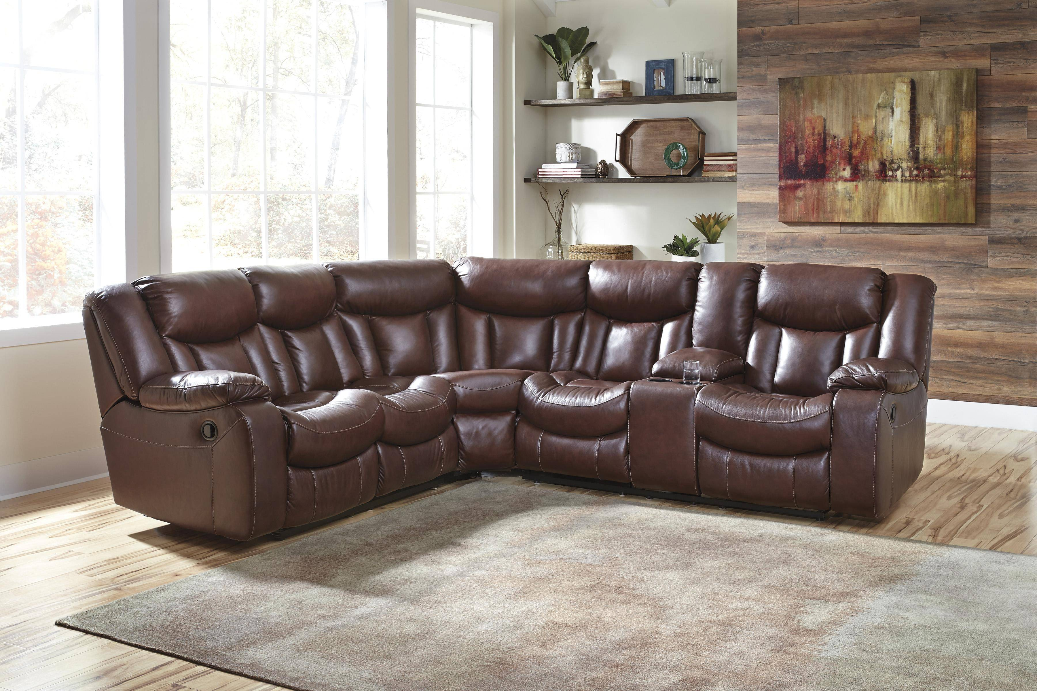 Ashley Amaroo 2 Piece Sectional In Brown 13610 48 49 Kit Buy Online