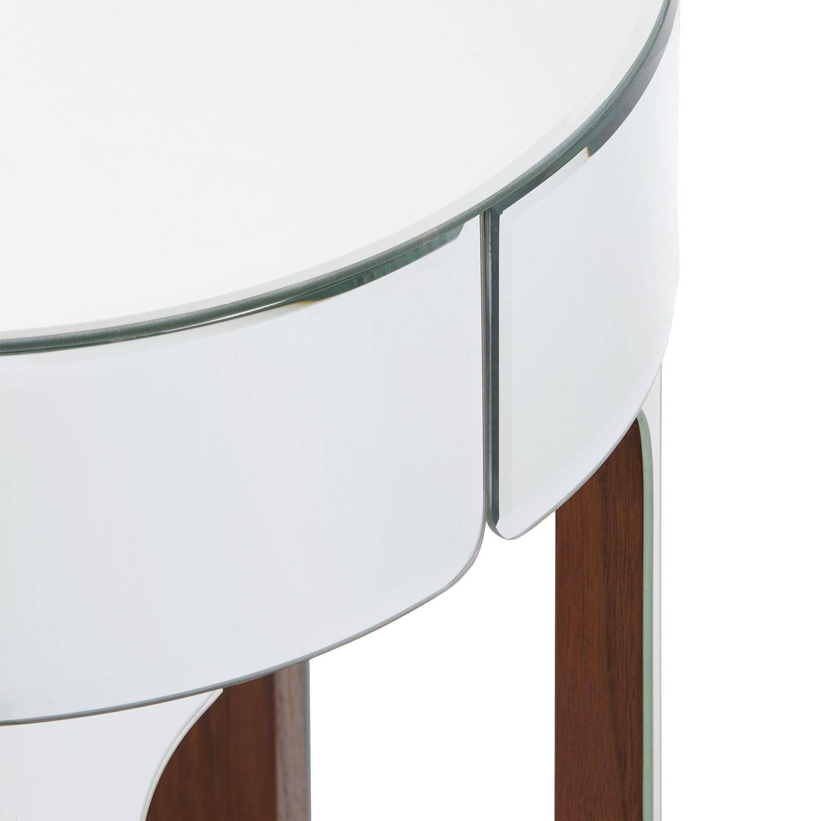 . Bungalow5 Bauer Contemporary Mirrored Wood and Walnut Veneers Side