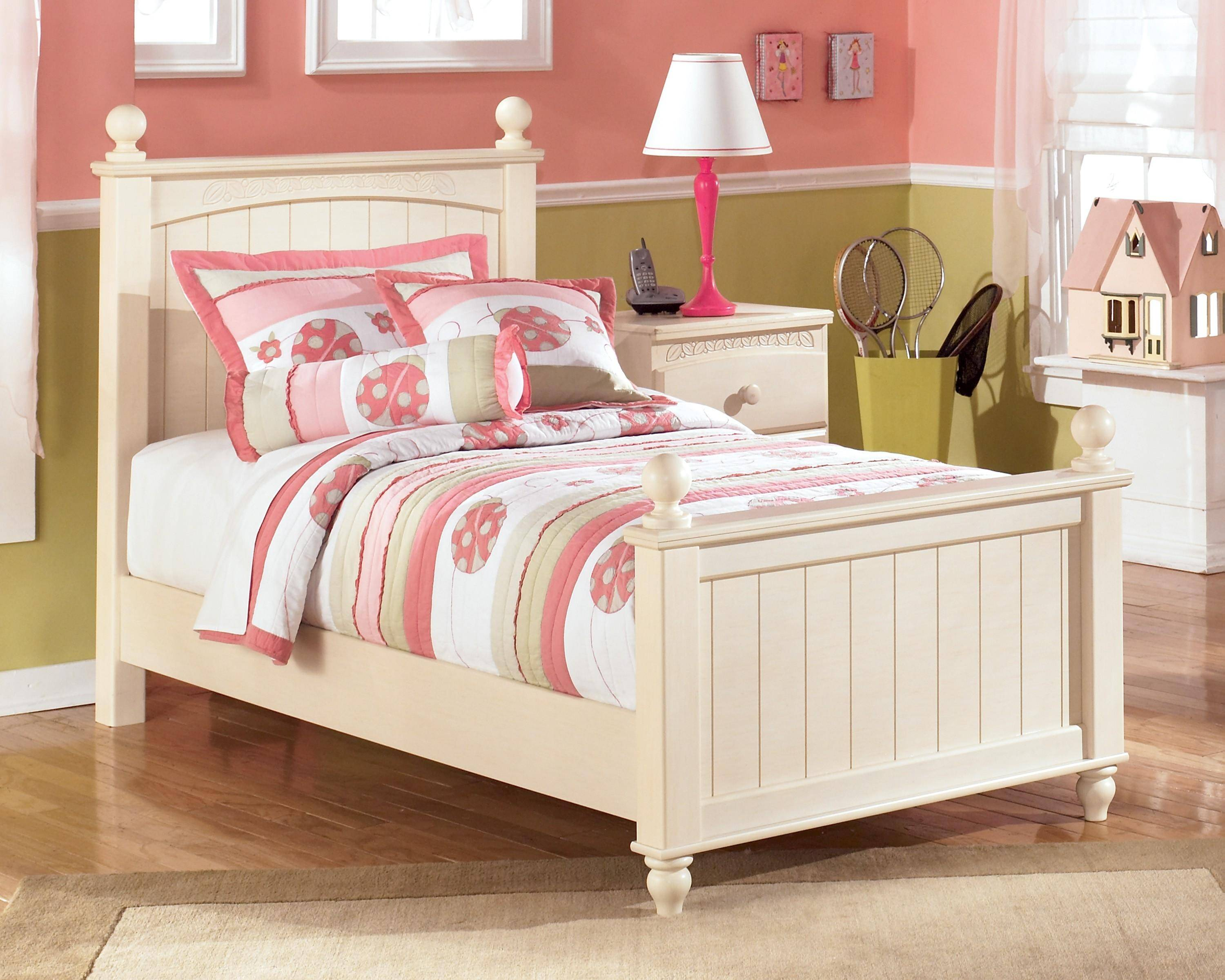 Ashley Cottage Retreat B213 Twin Size Poster Bedroom Set 3Pcs in ...