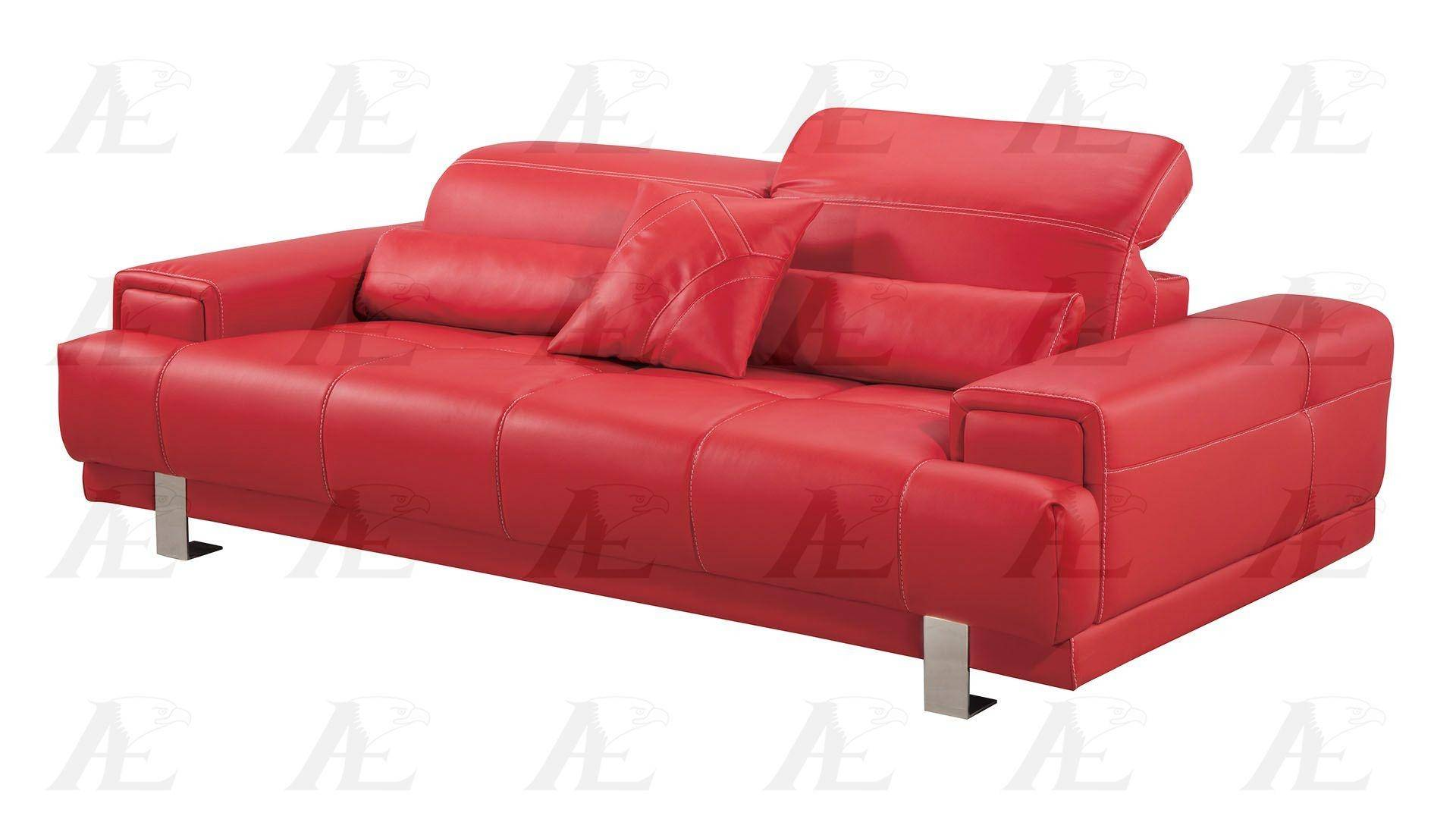 Pleasant American Eagle Furniture Ae606 Red Sofa Faux Leather Modern Evergreenethics Interior Chair Design Evergreenethicsorg