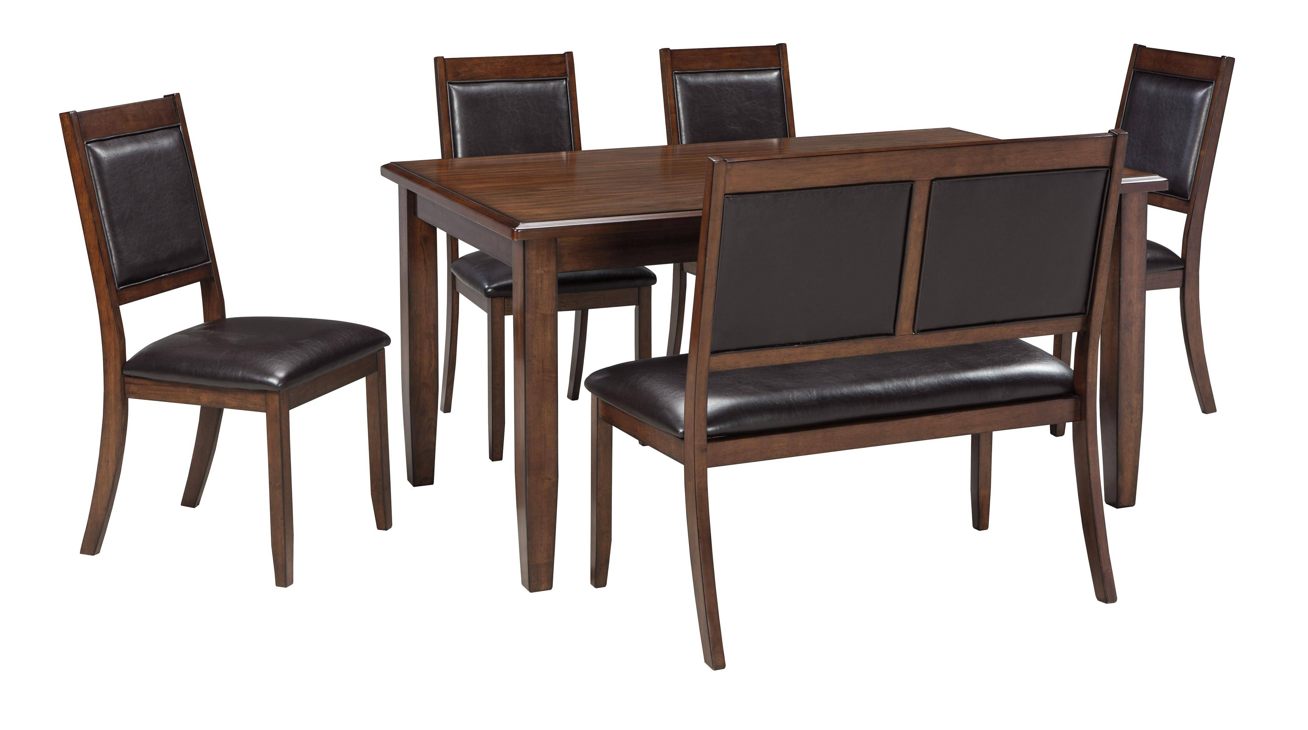 Ashley Meredy D395 Dining Room Set 6pcs In Brown D395 325