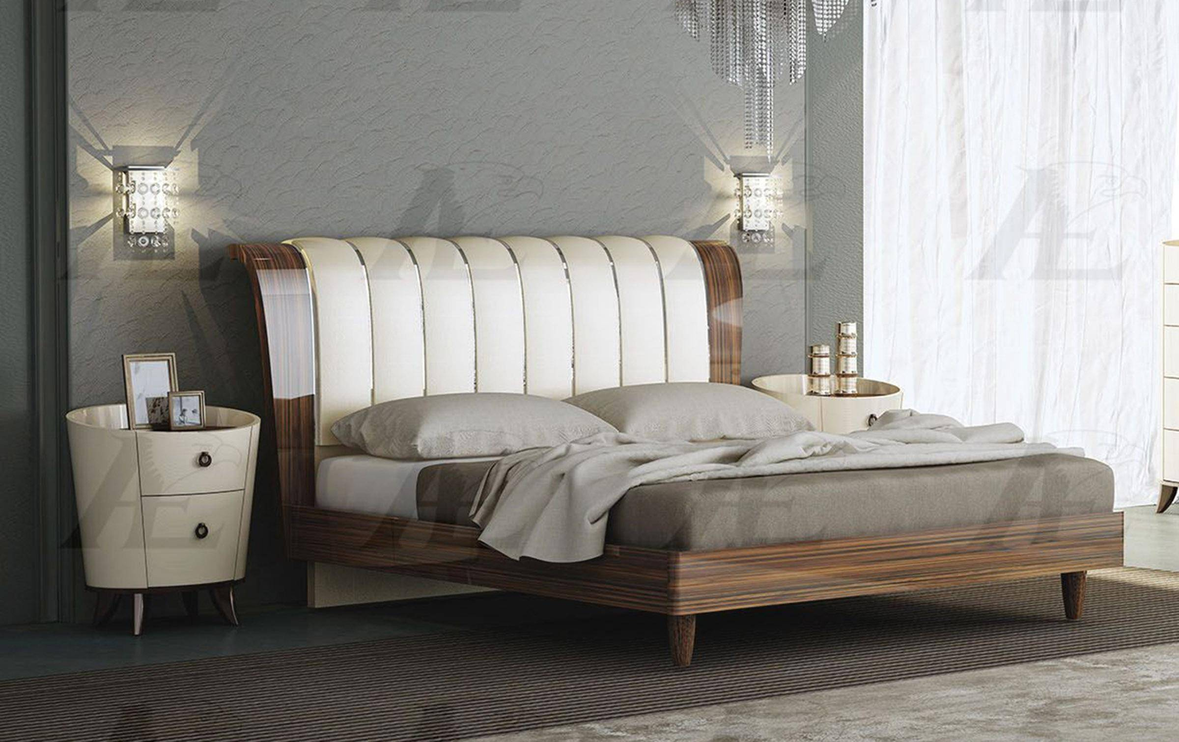 american eagle furniture p101 bed q ivory brown rosewood queen size rh nyfurnitureoutlets com