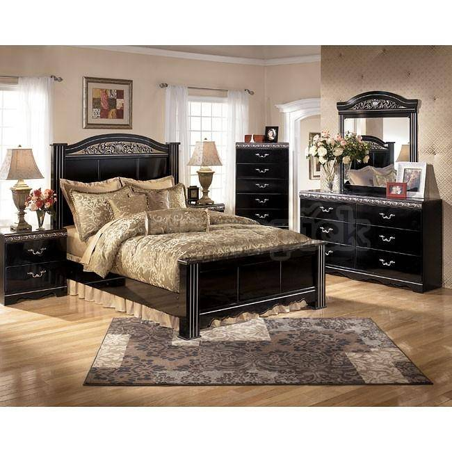 Ashley Constellations B104 King Size Panel Bedroom Set 6pcs In Black B104 68 66 99 92 2 46 31 36 Buy Online