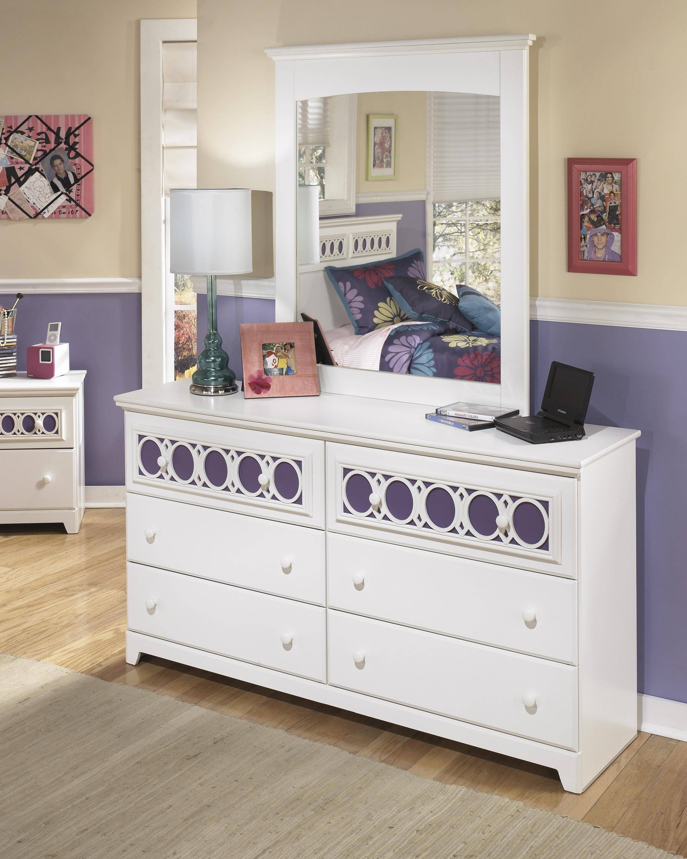 Ashley Zayley B131 Twin Size Panel Bedroom Set 6pcs In White B131 53 52 83 92 2 46 21 26 Buy