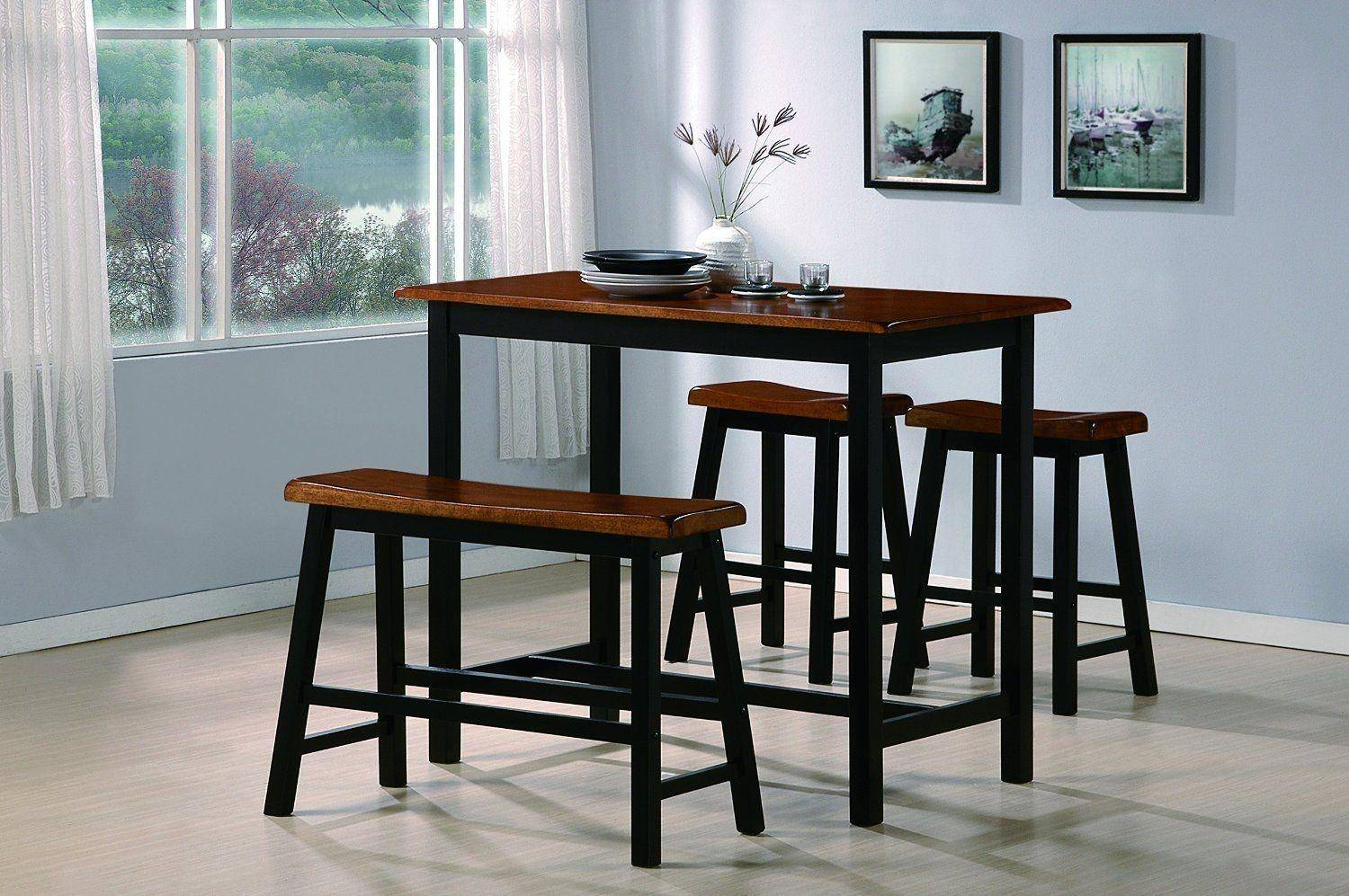 Crown Mark 2729 Tyler Country Style Dining Room Set W/ 2 Chairs & Bench 4Pcs