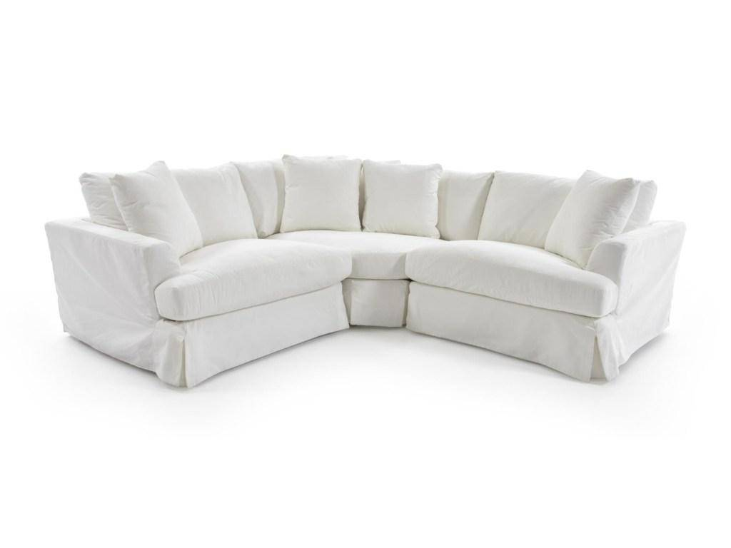 Outstanding Soflex Hugo White Perl Stain Resistant Fabric Sectional Sofa Onthecornerstone Fun Painted Chair Ideas Images Onthecornerstoneorg