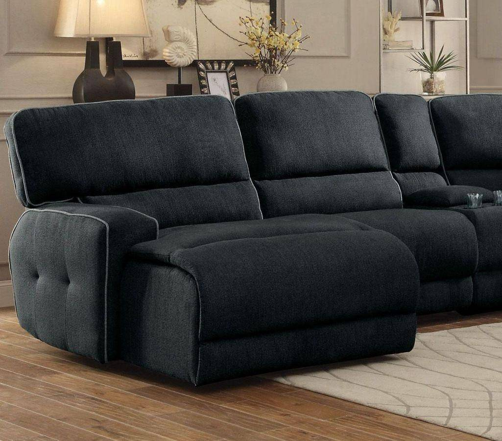 Picture of: Homelegance 8336 Keamey Dark Grey Fabric Reclining Sectional Sofa Chaise Lhc 8336 Sectional Sofa Chaise Lhc