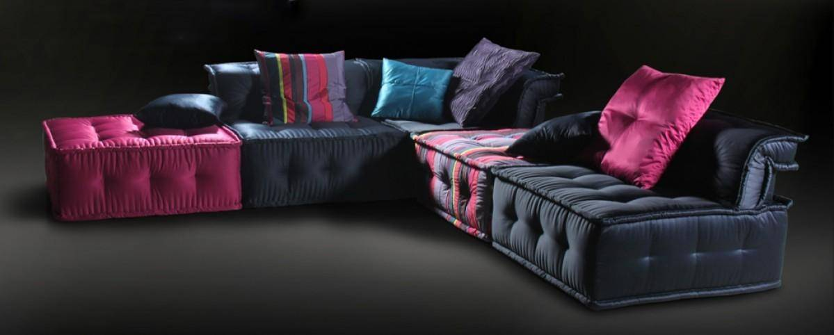 Ultra Chic Fabric Sectional Multicolored Sofa SPECIAL ORDER Soflex ...