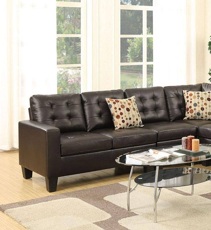 Roomstore Furniture Store: Brown Bonded Leather Modular Sectional F6939 Poundex