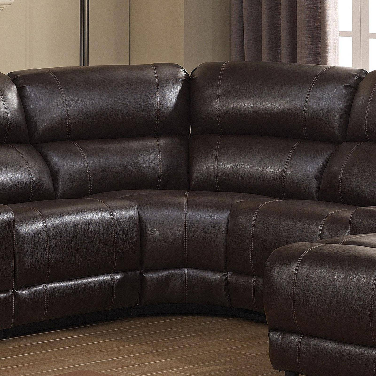 Stupendous Ac Pacific Colton Dark Brown Bonded Leather Manual Recliner Gamerscity Chair Design For Home Gamerscityorg