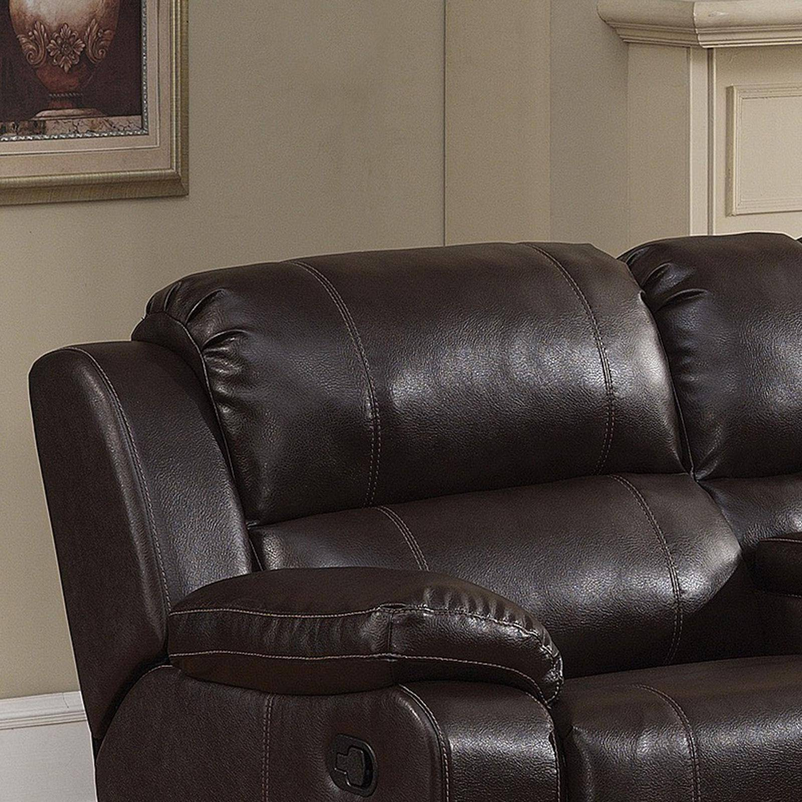 Remarkable Ac Pacific Colton Dark Brown Bonded Leather Manual Recliner Gamerscity Chair Design For Home Gamerscityorg