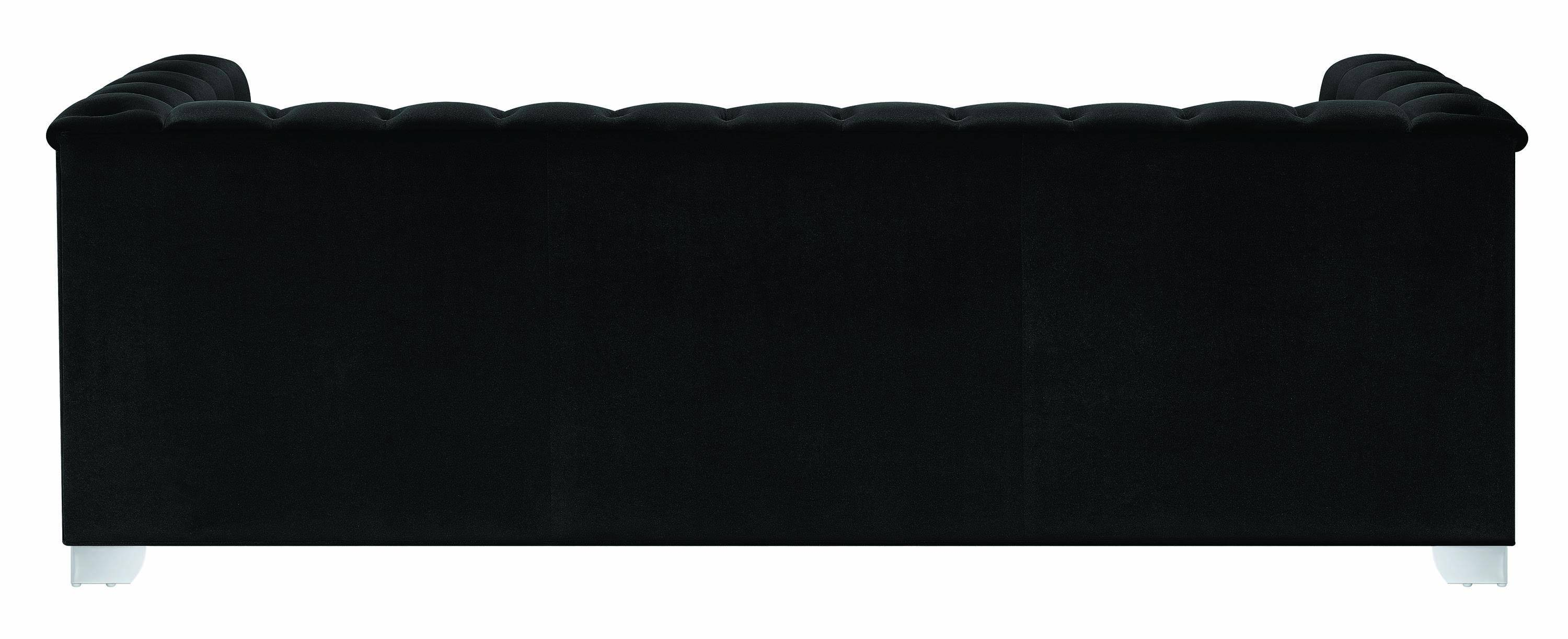 Awe Inspiring Traditional Black Fabric Upholstery Tufted Sofa Chaviano By Alphanode Cool Chair Designs And Ideas Alphanodeonline