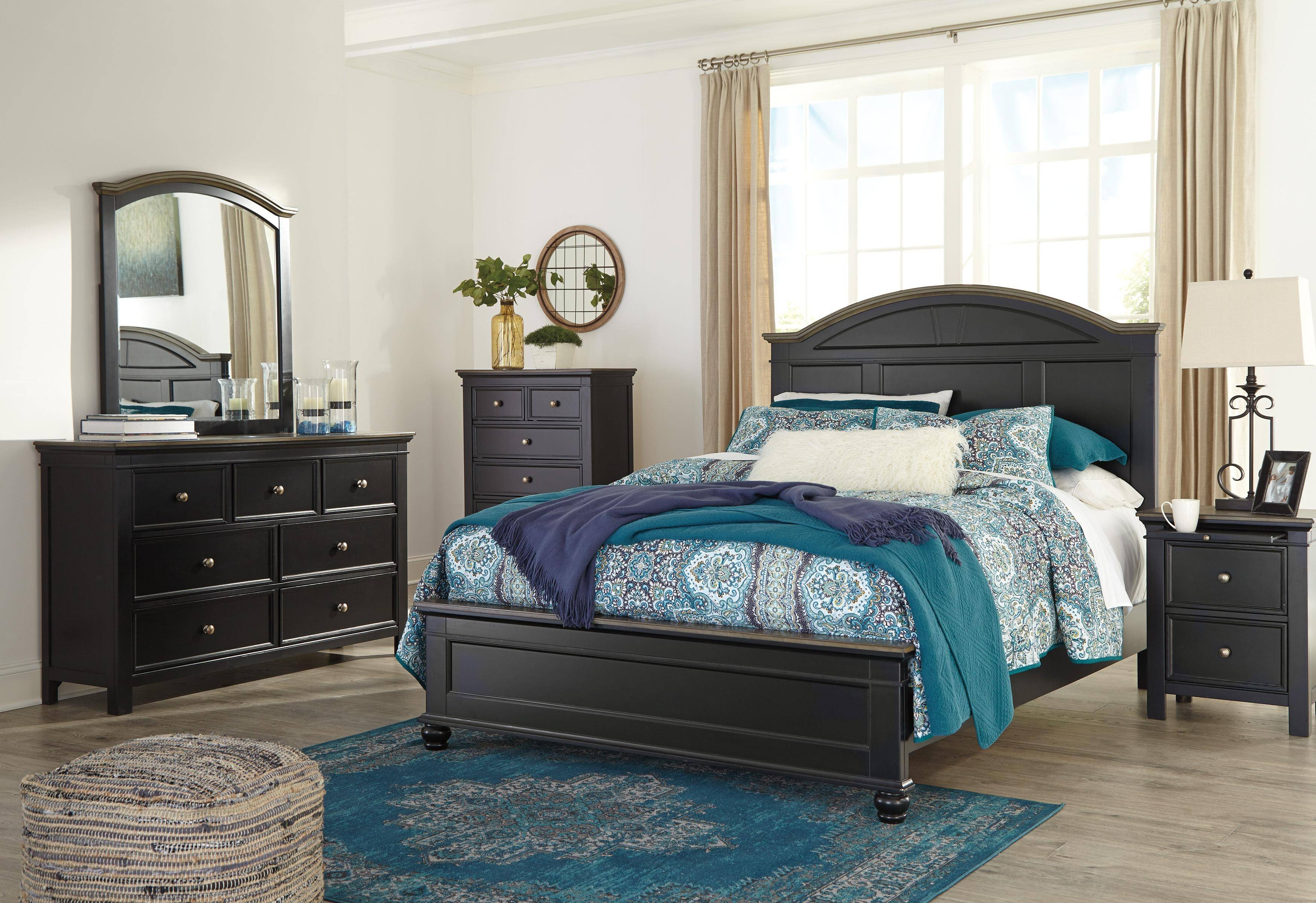 Ashley Froshburg B628 King Size Panel Bedroom Set 6pcs In