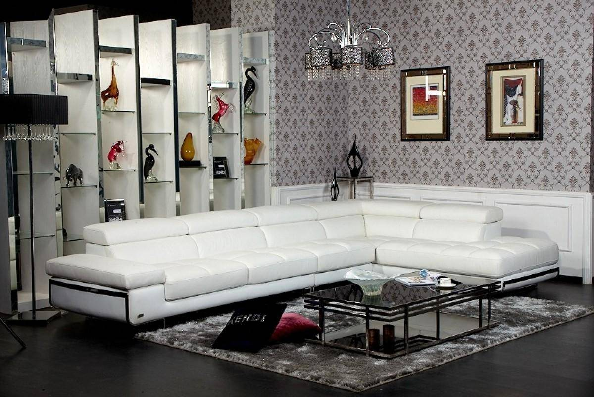 Peachy Soflex Lincoln Modern White Eco Leather Tufted Sectional Gmtry Best Dining Table And Chair Ideas Images Gmtryco