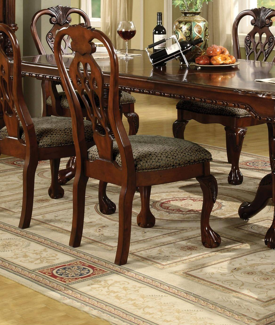 7 Pc Dining Room Sets: Crown Mark 7 Pc Brunswick Formal Dining Room Set, Includes