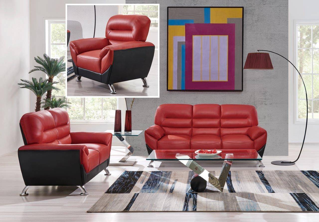 Outstanding Global Furniture U9105 Contemporary Red Black Leather Gel Gmtry Best Dining Table And Chair Ideas Images Gmtryco