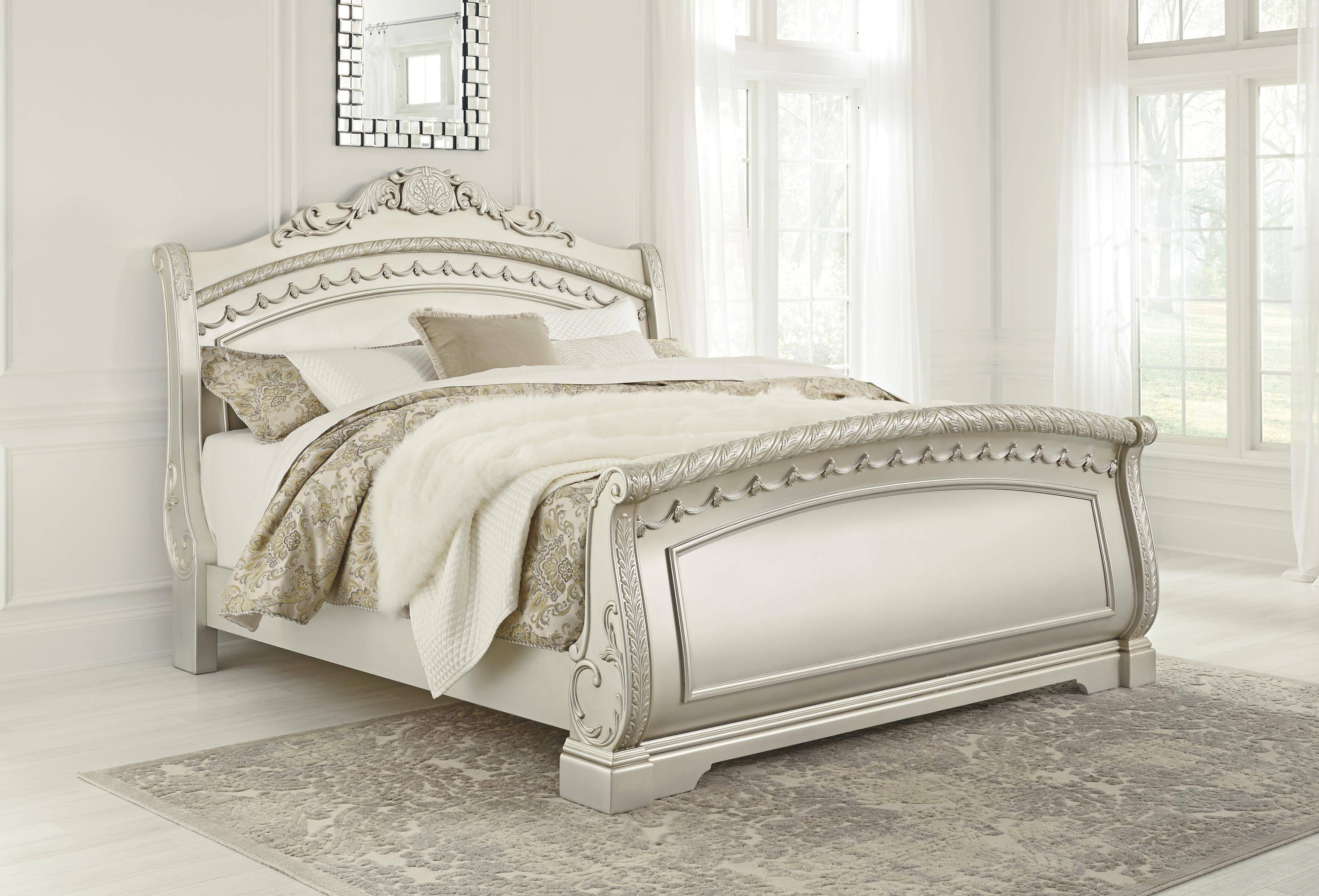 Ashley Cassimore B750 King Size Sleigh Bedroom Set 5pcs In