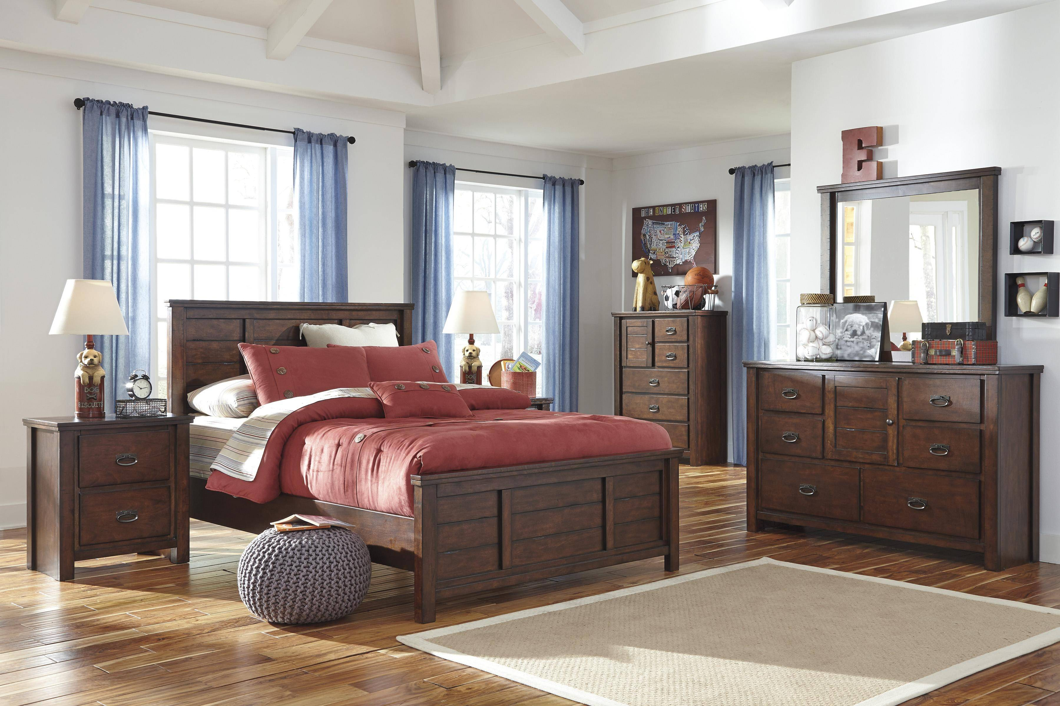 ashley ladiville b567 full size panel bedroom set 6pcs in