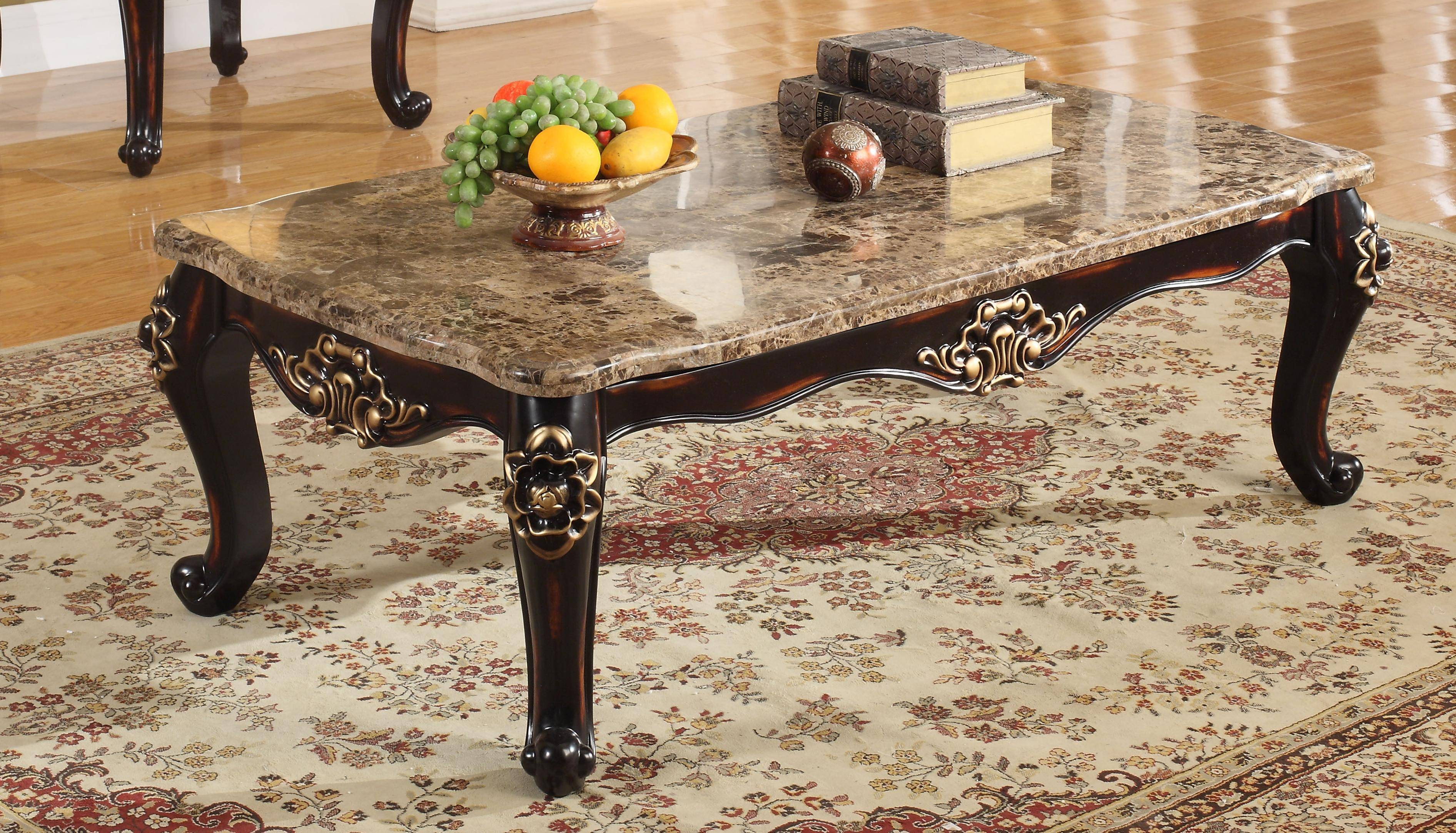 Meridian Furniture 275 Barcelona Genuine Marble Tops Coffee Table Traditional Reviews C