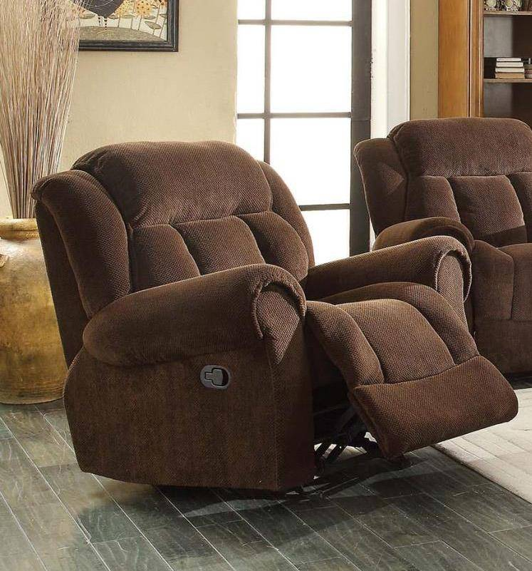Online Purchase Furniture: MYCO Furniture Basha Brown Modern Velvet Fabric Reclining
