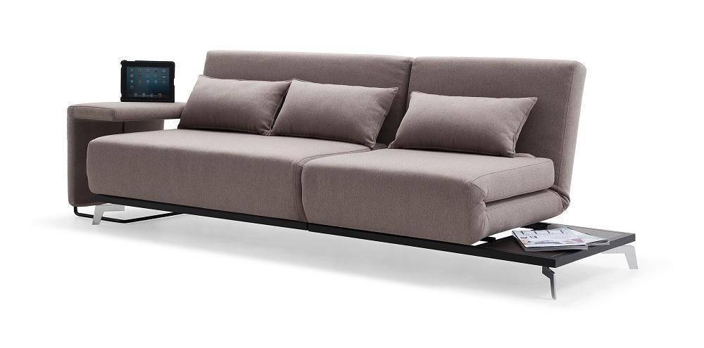 J&M JH033 Contemporary Style Stationary Double Seat Mocha Fabric ...