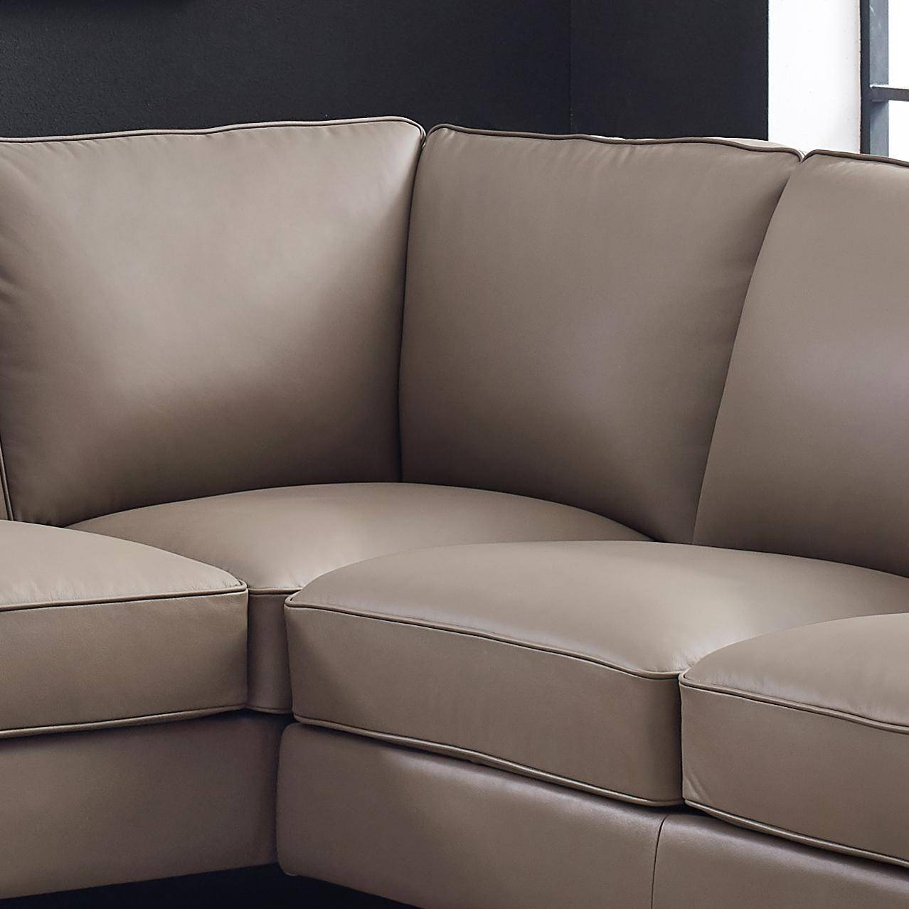 TAUPE Top Grain Leather Sectional SAN FRANCISCO HYDELINE