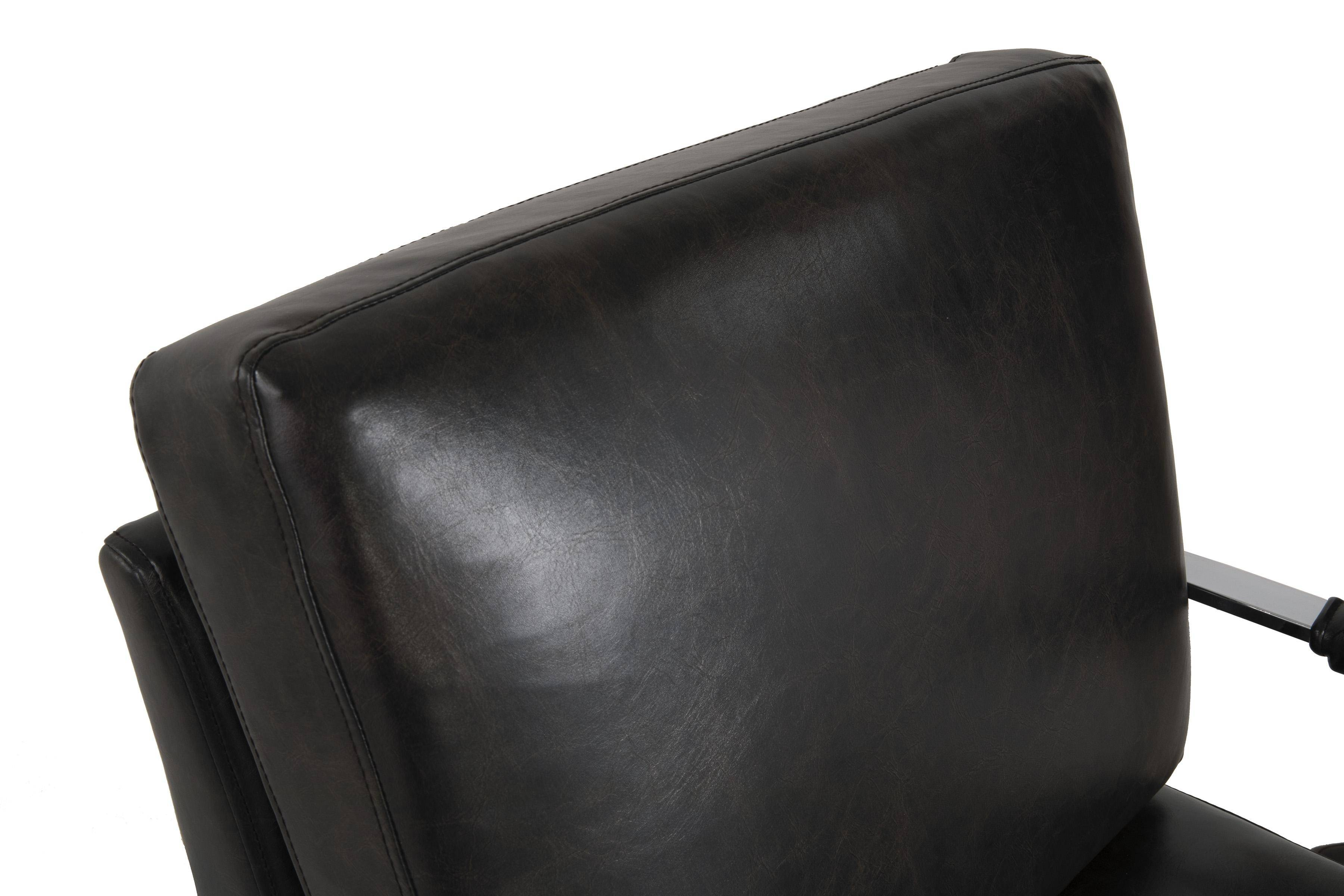 Stupendous Ashley Network A3000028 Accent Chair In Black Faux Leather Ibusinesslaw Wood Chair Design Ideas Ibusinesslaworg